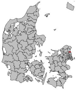 Lokalisering af Hørsholm Kommune