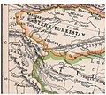 Map depicting the International Boundary of India with Eastern Turkestan on the Kuen Lun Range in northern Kashmir and depicting The Raskam Tract, Hindutash, Aksai Chin and Karakash River as part of India.jpg