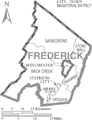 Map of Frederick County, Virginia with Municipal and District Labels.png