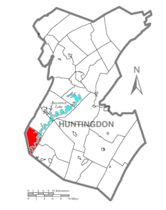 Map of Huntingdon County, Pennsylvania Highlighting Hopewell Township.PNG
