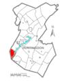 Map of Huntingdon County, Pennsylvania Highlighting Hopewell Township.PNG