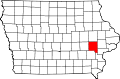 Map of Iowa highlighting Johnson County.svg