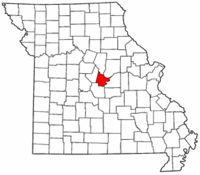 Map of Missouri highlighting Cole County.png