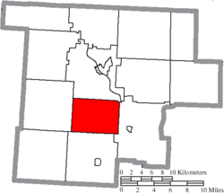 Location of Penn Township in Morgan County