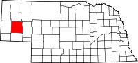 Map of Nebraska highlighting Morrill County
