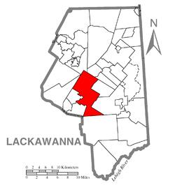 Vị trí trong Quận Lackawanna, Pennsylvania