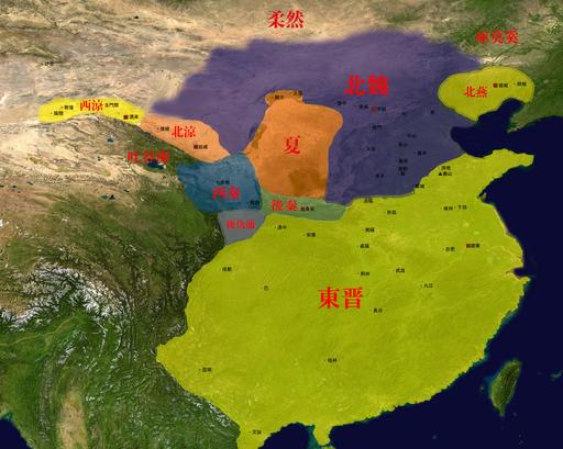 Map of Sixteen Kingdoms 10