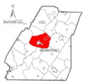 Map of Somerset County, Pennsylvania highlighting Somerset Township.PNG