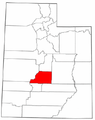 Map of Utah highlighting Sevier County.png