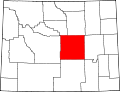 Map of Wyoming highlighting Natrona County.svg