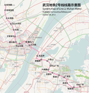 Map of wuhan metro line 2.png