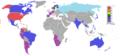 Mapa donde se destaca a los países ganadores del concurso Miss Universo..PNG