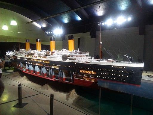 Maqueta del titanic en Vigo