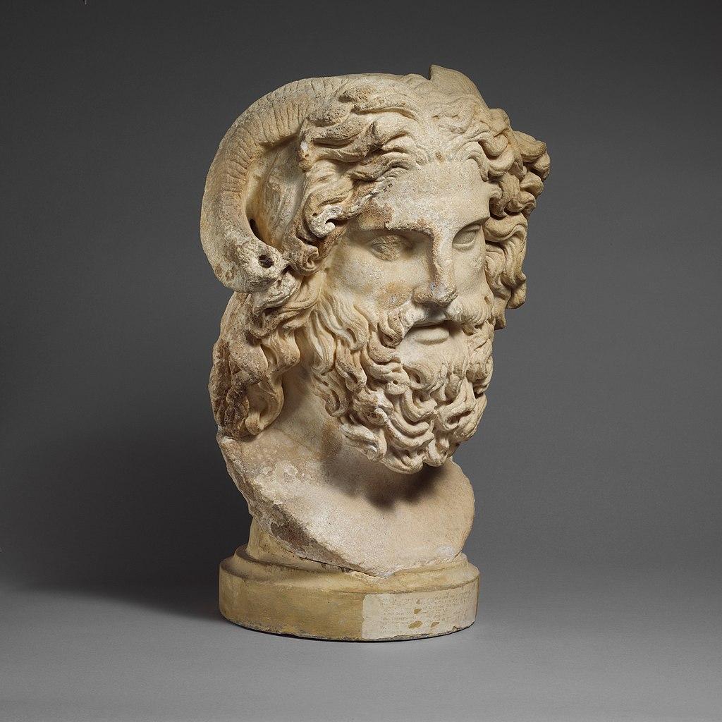 Zeus Amun with ram horns
