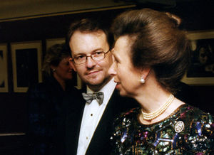 Marcus Dillistone - Dillistone with The Princess Royal at BAFTA for the royal premiere of his film The Troop.
