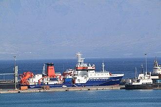 RV Maria S. Merian - RV Maria S. Merian in the harbour of Mindelo, Cape Verde.