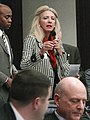 Maria Sachs gestures while commenting during consideration of a measure on the House floor.jpg