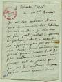 Marie-Louise Labouret annonce le décès de son époux Thomas Alexandre Dumas à Madame Carmin, 4 décembre 1806,.png