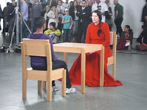 English: Performance artist Marina Abramovic a...