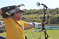 Marine Corps veteran Mark P. OíBrien participates in an archery competition at the 2012 Marine Corps Trials at Camp Pendleton 120217-O-IX633-157.jpg
