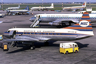 Amsterdam Airport Schiphol - The apron in 1965
