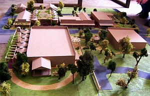 Martindale, Texas - Model of the town Martindale after the proposed renovation by students at Texas State University.
