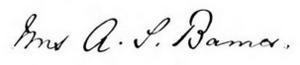 Mary Mathews Adams - Mary Mathews Barnes' signature