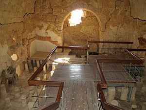 Casa-de-banhos em Massada.