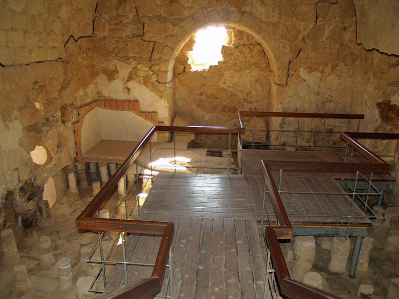 Ficheiro:Masada large bathhouse by David Shankbone.jpg