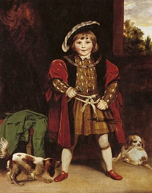 Crewe Hall - Second Baron Crewe as a child, by Sir Joshua Reynolds (c. 1775)