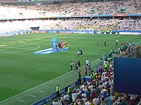 Match 3rd place Word Cup football W2019- podium for Sweden 2.jpg