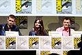 Matt Smith, Jenna Coleman & Steven Moffat (9362647023).jpg