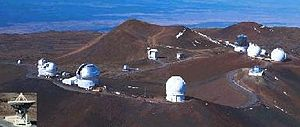 Kuiper belt - The array of telescopes atop Mauna Kea, with which the Kuiper belt was discovered