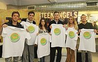 """Mauricio Macri y los Teen Angels por la """"Ciudad Verde"""".jpg"""