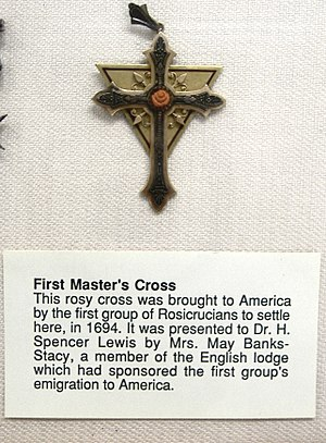 Ancient Mystical Order Rosae Crucis - A Rosicrucian Master's Cross, from the AMORC Rosicrucian Library in San Jose