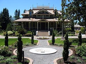 Film locations in Sonoma County, California - McDonald Mansion, Santa Rosa, exterior used in 1960's Pollyanna