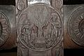 Medallion - 2nd Century BCE - Red Sand Stone - Bharhut Stupa Railing Pillar - Madhya Pradesh - Indian Museum - Kolkata 2012-11-16 1844.JPG