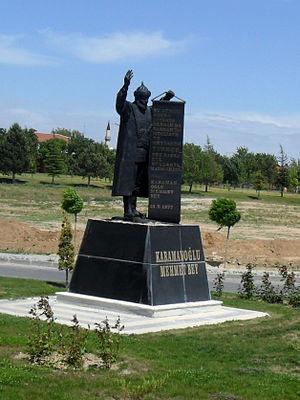 Mehmet I of Karaman - Statue of Mehmet I in the city of Karaman