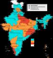 Mehrheiten nach Bundesstaaten Indien 2009 de.png