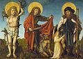 Meister des Schwabacher Crispinus-Altars Hl Sebastian Martin und Rochus c1500.jpg