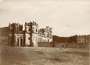 Battle of Mek'ele - The fort at Mek'ele after the siege