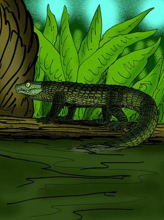 Mekosuchus - Life restoration of M. inexpectatus