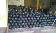 Арбузы с тёмно-зелёной цедрой, Индия