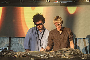James Ford (musician) - James Ford (left) with Simian Mobile Disco during Melt! Festival 2013