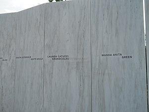 Lauren Grandcolas - Grandcolas name on the Flight 93 National Memorial
