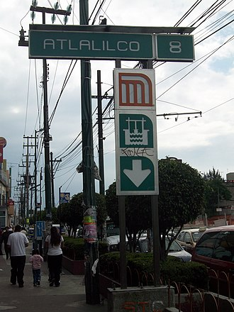 Metro Atlalilco - Image: Metro Atlalilco 04