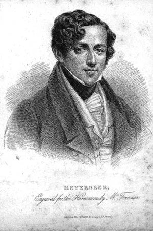 Robert le diable - Meyerbeer, c. 1825, shortly before he commenced working on Robert.