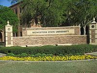 Midwestern State University sign, Wichita Falls, TX IMG 6870