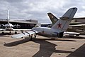 Mikoyan-Gurevich MiG-17F Fresco-C LSideRear CFM 7Oct2011 (15322004241).jpg