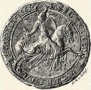 Nicholas II, Duke of Opava - Seal of the Duke Nicholas II